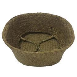 Dovecove Seagrass Wickerwork Basket Rattan Foldable Hanging Flower Pot Planter Woven Dirty Laundry Basket Storage Basket Home Storage Decor BasketSeagrass