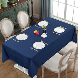 Latitude Run® Waterproof Tablecloth Small Table Cloth For Dining Rectangle Table in Blue, Size 8.0 W x 11.0 D in | Wayfair