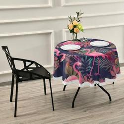 Bayou Breeze Tablecloth Clover Leaf Green Shamrock Table Cloth Polyester Washable Tassel Lace Table Cover For Picnic Dinner Party in Pink | Wayfair