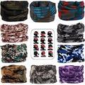 MAKLULU 10pc Seamless Bandanna Tube Headwear Scarf Wrap,12-in-1 Outdoor Sport Headband with UV Resistance(03-Camo)