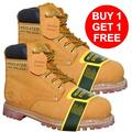 Krazy Y&W Young & Wild LEATHER 6 Inch Steel Toe Work Boot Buy 1 Get 1, Wheat Men