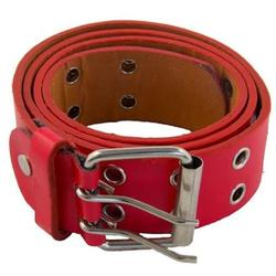 12 PACK Red Punk Two Rows Metal Holes Belts Mix Sizes 2444A