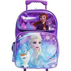 """Disney Frozen 2 Elsa & Anna Kids Backpack 16"""" Rolling Backpack /Roller Large Bag 20225"""