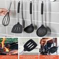 ZWISSLIV Silicone Kitchen Utensils Set, Silicone Cooking Utensil Set - 446°F Heat Resistant Kitchen Utensils, Non-Stick Cooking Utensils Set in Black