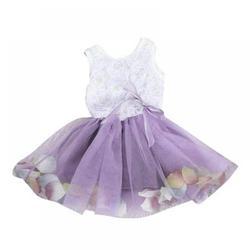 Little Baby Girls Sleeveless Flower Petal Infant Flower Girl Dress Princess Party Lace Bow Flower Cute Dresses Child Party Dance Clothes,Purple