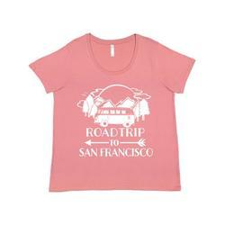Inktastic Road Trip To San Francisco Adult Women's Plus Size T-Shirt Female Mauve 1X