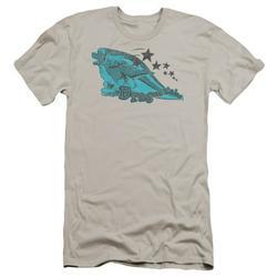 Dragon Tales/Ord Skates Premium Canvas Adult Slim Fit 30/1 T-Shirt Silver