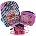 LOL Surprise 16 Inch Backpack Bundle with Lunch Bag and Goodies Glam 10 LOL Backpacks for Girls LOL Remix