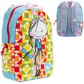 Girls Girls Colorful School Backpack, Measures approximately 17 x 13 x 5 By from USA