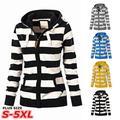 Plus Size Women Ladies Zipper Tops Hoodie Hooded Sweatshirt Coat Jacket Casual Slim Jumper
