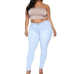 Women High Rise Distressed Solid Stretch Sexy Skinny Leg Denim Jeans Bodycon Jeggings Pencil Pants Trousers With Pockets