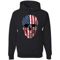 Cracked American Flag USA Skull Americana / American Pride, patriotic Shirt, American Shirt, Patriotic Shirt, fourth of july shirt, American Flag, USA Graphic Hoodie Sweatshirt