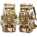 Military Tactical Backpack Novashion 80L Large Capacity Camping Hiking Backpack Rucksack Waterproof Traveling Daypack for Outdoor, Gift for Boy and Girl