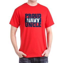 CafePress - US Navy Proud Navy Uncle Dark T Shirt - 100% Cotton T-Shirt