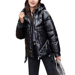 Women Winter Chunky Puffer Down Jacket Coat Ladies Puffer Coat Classic Warm Quilted Coat Ladies Casual Long Sherpa Lined Coat