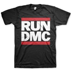 Official RUN DMC Official Classic Logo Black Short Sleeve Graphic Tee