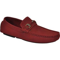 Bravo! Men Casual Shoe Todd-1 Driving Moccasin Red 10M US