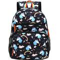 Kemy's Unicorn Backpack for Girls Rainbow Inicorn Schoolbag Primary Junior Elementary High School for Kids Packie Water Resistant Large Birthday Gift Black