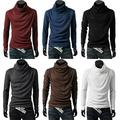 Mens Thermal Cotton Turtle Roll Neck Skivvy Turtleneck Sweater Stretch Shirt New