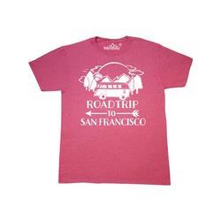 Inktastic Road Trip To San Francisco Adult T-Shirt Male Retro Heather Pink XXXL
