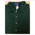 Polo Ralph Lauren Men's Custom-Fit Oxford Blue Stripe Pique Polo Green - XL