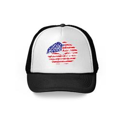 Awkward Styles American Lips Trucker Hat USA Flag Hats for Women Men USA Gifts American Flag Hat USA Baseball Cap Patriotic Hat American Flag Men Women 4th of July Hat 4th of July Accessories