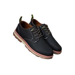 UKAP Men's Artificial Leather Business Casual Dress Shoes Flat Round Toe Fashion Casual Shoes