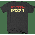 Wanted: Pizza Junk Food Snacks Hungry Nutrition Shirts for Men Large Dark Gray