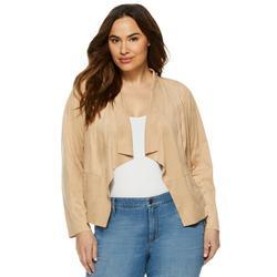 Sofia Jeans by Sofia Vergara Plus Size Faux Suede Moto Jacket