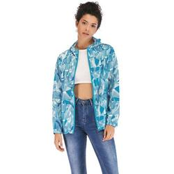 Women's Slim Lightweight Hoodie Jacket Packable Rain Jacket Windbreaker Hooded Coats Jacket Long Sleeve Active Outdoor Jackets 3 Colors