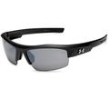 Under Armour UA Igniter Satin Black Frame Gray Mirror Lens Men's Sport Sunglasses