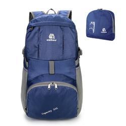 Lightweight Nylon Foldable Backpack Water-resistant Backpack Folding Bag Portable Men Women Backpack for Travel Camping Hiking