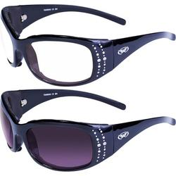 2 Pairs of Global Vision Marilyn 2 Plus Womens Padded Sunglasses Black Frame Clear + Smoke Lenses
