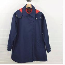 J. Crew Jackets & Coats | J.Crew Belvedere Swing Raincoat Trenchcoat S | Color: Blue/Red | Size: S