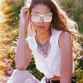 Atralife Sunglasses Square Sunglasses Fashion Oversized UV Protection Sunglasses for Women Men