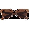 Real Zebra 1/2 Wood Browline Style RetroShade Sunglasses by WUDN