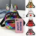 Pudcoco Small Sequins Backpack Girls Women School Mini Bag Travel Rucksack Shoulder Bags