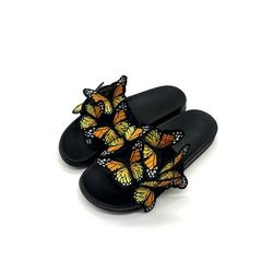 Colisha Women's Fashion Slippers Flat Heel Sandals Backless Casual Shoes Butterfly Decor Women's Fashion Slippers Flat Heel Sandals Backless Casual Shoes Butterfly Decor