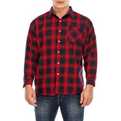 FOCUSSEXY Mens Plaid Shirt Long Sleeve Big & Tall Button Down Plaid Flannel Shirt Mens Shirts Tops Plaid Button-Down Long Sleeve Shirt for Men Boys Gentlemen