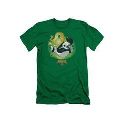 Kung Fu Panda Film Dragon Pose Po Kung Fu Panda 3 Adult Slim T-Shirt Tee