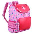 Vbiger 12inch Kids Backpack for Toddlers, Boys & Girls, Waterproof Polyester School Bag Travel Backpack for Kids, Cloud Pattern, Rose Red
