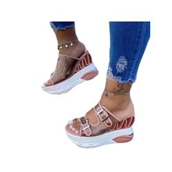 Lacyhop Women Fashion Sandals Wedge Heel Slippers Mules Platform Breathable Casual Shoes