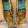 Vans Shoes   Limited Edition Vans X The Simpsons Slip On Shoes   Color: White/Yellow   Size: 11