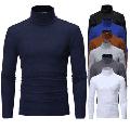 Men's Warm Cotton High Neck Pullover Jumper Sweater Tops Turtleneck Shirts
