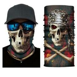 Skull Themed Face Balaclava Scarf Neck Fishing Shield Sun Gaiter Headwear Mask