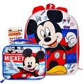 Disney Mickey Mouse Backpack Set with Lunch Box and Stickers