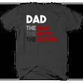 Dad the Man Myth Legend Fathers Day Family Gift Tshirt for Men Small Dark Gray