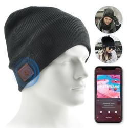 Bluetooth Beanie Hat, Upgraded Wireless Bluetooth 5.0 Beanie Hat with Headphones Headset Earphone Knitted Beanie with Stereo Speakers and Mic for Women Men