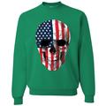 Cracked American Flag USA Skull Americana / American Pride, patriotic Shirt, American Shirt, Patriotic Shirt, fourth of july shirt, American Flag, USA Crewneck Graphic Sweatshirt