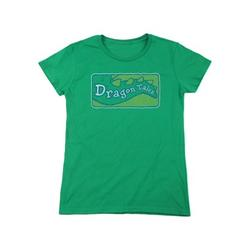 Dragon Tales Animated Series Show Logo Distressed On Green Women's T-Shirt Tee